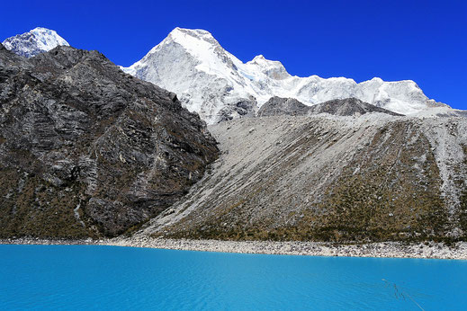 Im Hintergrund der Huandoy (6.360 m) Caraz, Peru (Foto Jörg Schwarz)