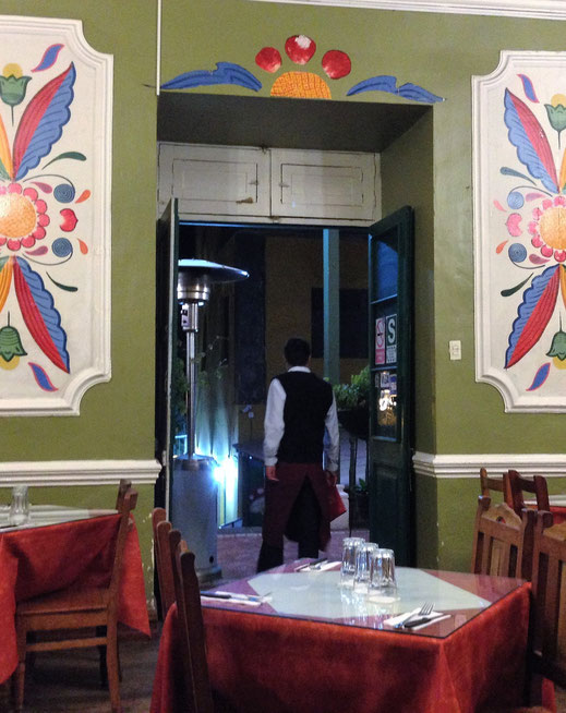 Ein gehobeneres Restaurant in Ayacucho, Peru (Foto Jörg Schwarz)