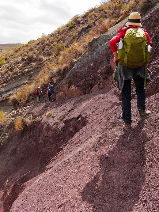 Wer sich hier vertritt, der geht gut 100 m ab... Crater Maragua, Bolivien (Foto Jörg Schwarz)