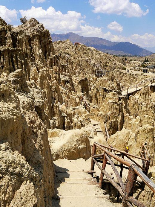Schon bizarr diese Landschaft, Valle dela Luna, La Paz, Bolivien (Foto Jörg Schwarz)