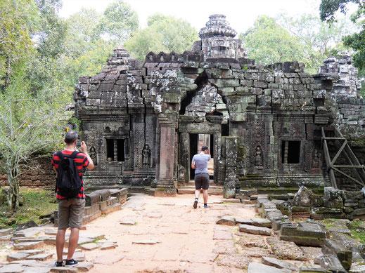 Eignet sich aufgrund der wenigen Besucher für Fotos deutlich besser als seine größeren Ebenbilder... Ta Som, Kambodscha (Foto Jörg Schwarz)
