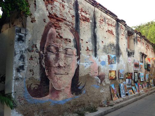 Klasse Streetart in Cartagena, Kolumbien (Foto Jörg Schwarz)