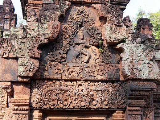 Fantastische Details... Banteay Srei, Kambodscha (Foto Jörg Schwarz)