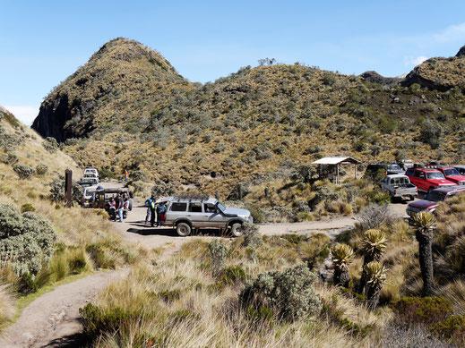 Blick zurück zum Stratpunkt, Los Nevados, Kolumbien (Foto Jörg Schwarz)