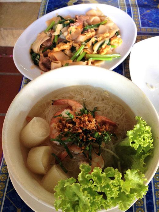 Ob wunderbare Suppen oder Nudelgerichte - wir waren mit der Küche Kambodschas bisher sehr zufrieden, Siem Reap, Kambodscha (Foto Jörg Schwarz)
