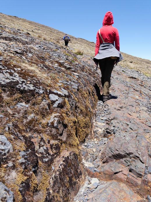 Felsige, griffige Böden lassen uns gut laufen, Sorata, Bolivien (Foto Jörg Schwarz)