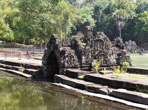 Sicher fanden hier zahlreiche Wasserrituale und Badeszenen statt, Neak Pean, Kambodscha (Foto Jörg Schwarz)