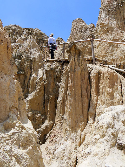 Schweißtreibende Angelegenheit, Valle de la Luna, La Paz, Bolivien (Foto Jörg Schwarz)