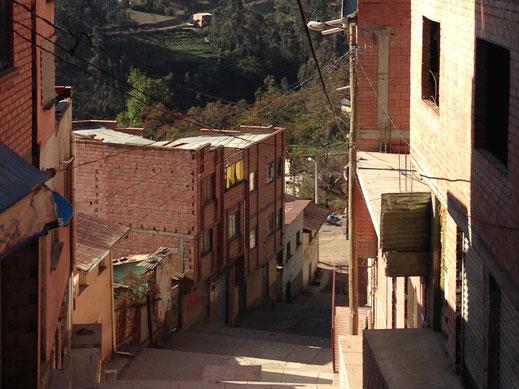 Auch in Bolivien dasselbe Bild... Sorata, Bolivien (Foto Jörg Schwarz)