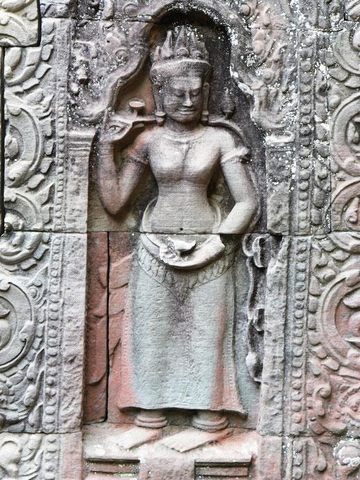 Auch hier sind die Devatas sehenswert... Ta Som, Kambodscha (Foto Jörg Schwarz)