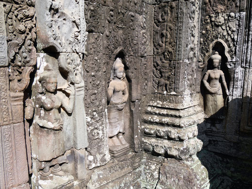 Der Tempelschmuck muss bombastisch gewesen sein... Banteay Kdei, Kambodscha (Foto Jörg Schwarz)