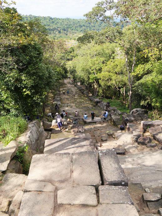 Der Blick nach Thailand... Prasat Preah Vihear, Region Preah Vihear, Kambodscha (Foto Jörg Schwarz)