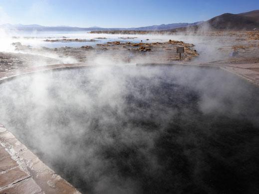 Im Grunde sollte man sich das 35 Grad warme Wasser nicht entgehen lassen, Reserva de Fauna Andina, Bolivien (Foto Jörg Schwarz)