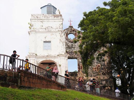 Die Portugiesen bauten diese älteste Kirche Südostasiens in Melaka - heute eine Ruine, Melaka, Malaysia (Foto Jörg Schwarz)
