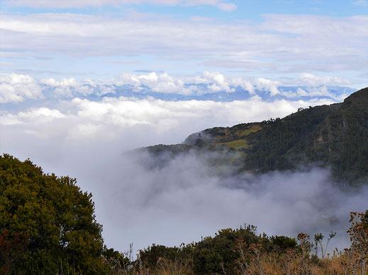 Die Gegend verschwindet in Wolken und Nebelschwaden... Monguí, Kolumbien (Foto Jörg Schwarz)(Foto Jörg Schwarz)