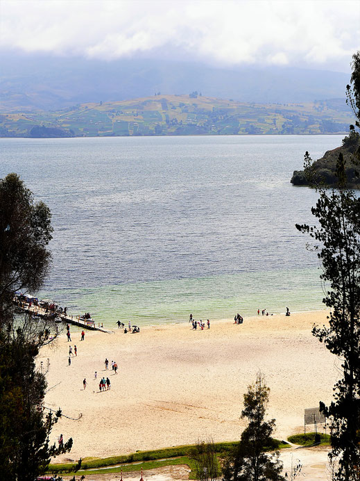 Und dann sehen wir sie... Die Playa Blanca, Kolumbien (Foto Jörg Schwarz)