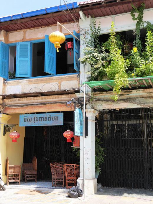 Wie in Malaysia die Straits-Settlement-Häuser: Chinesische Storehouses...  Battambang, Kambodscha (Foto Jörg Schwarz)