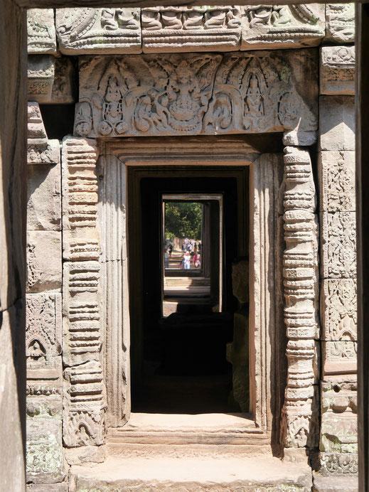 Klasse Türenverzierungen, Preah Khan, Kambodscha (Foto Jörg Schwarz)