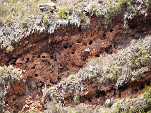 Von Grabräubern ausgeräumte Inka-Gräber, Pisac, Peru (Jörg Schwarz)