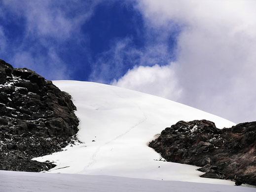 Das Ziel: Der Glaciar de Santa Isabela, NP Los Nevados, Kolumbien (Foto Jörg Schwarz)