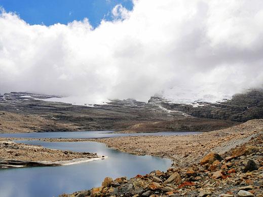 Der Blick in das weitere Rund der Lagune, Parque Nacional del Cocuy, Kolumbien (Foto Jörg Schwarz)