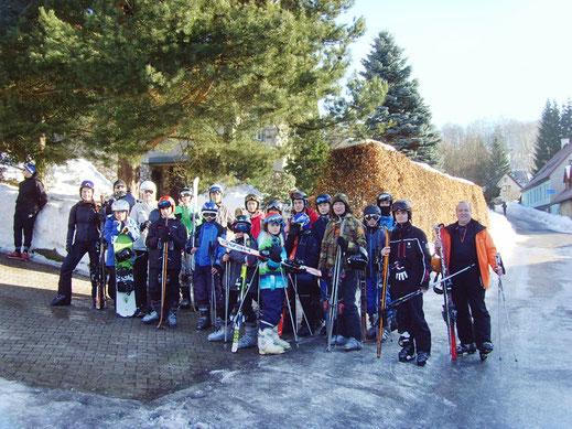Die Teilnehmer der WSW Skifreizeit 2017 – Gruppe 1