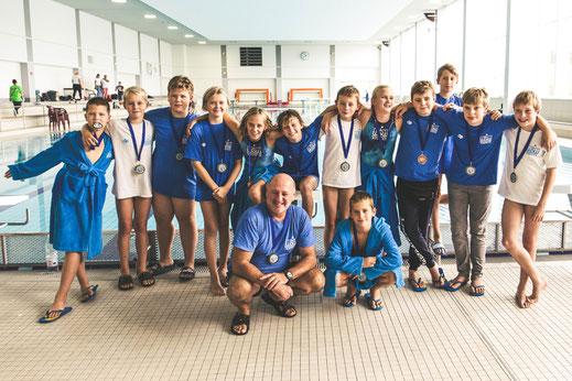 Die U12-Mannschaft des WSW Rostock freut sich über den 3. Platz bei den Norddeutschen Meisterschaften 2018.