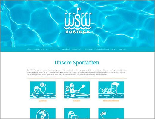 Screenshot von unserer neuen Website.