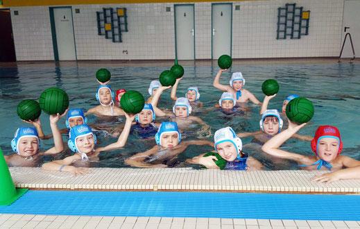 Die Wasserballer des WSW Rostock beim Miniliga-Cup in Wingst