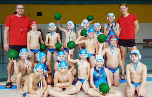 Teams und Trainer des WSW Rostock beim Miniliga-Cup in Wingst