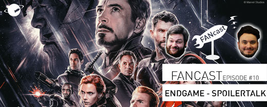 FANwerk FANcast  Avengers Endgame Spoilertalk Iron Man Captain America Thanos Black Widow Hulk Thor Captain Marvel Podcast Spotify iTunes Marvel MCU Kino Review Blog Filmkritik Film Wertung Rezension