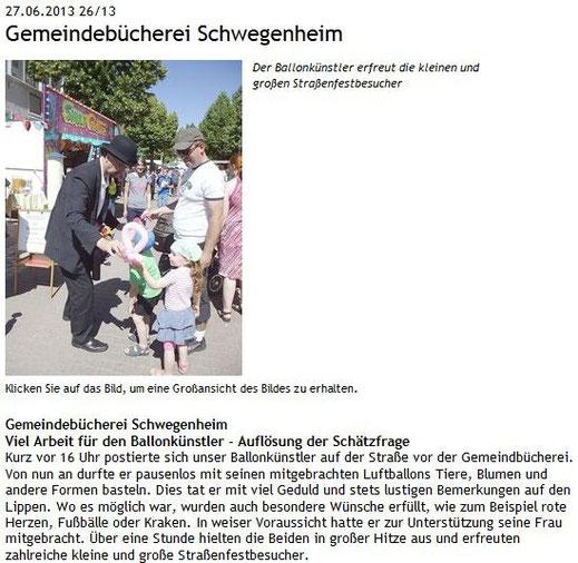 Amtsblatt Schwegenheim Ausgabe 26/13