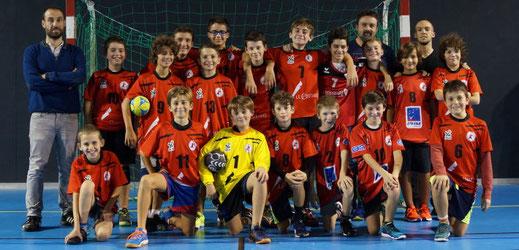 Equipe masculine des moins de treize ans - JA Isle Handball