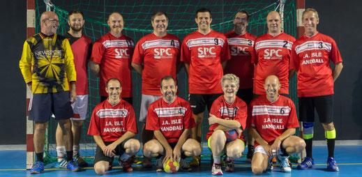 l'équipe loisirs de la JA Isle Handball
