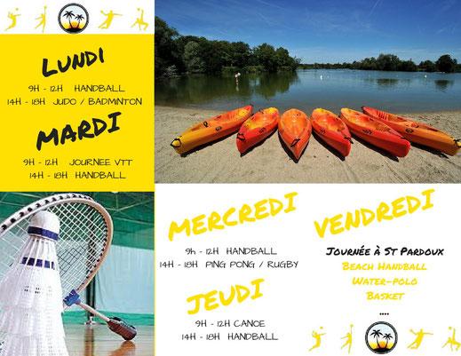 stage été 2017 handball mutiactivités - JA Isle handball - isle