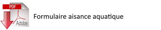 Icône cliquable pour accéder au PDF du formulaire aisance aquatique - JA Isle Handball - Isle