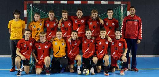 Equipe masculine seniors Excellence de la JA Isle Handball