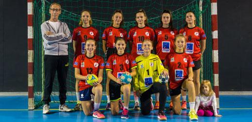 Equipe féminine des moins de quinze ans - JA Isle Handball