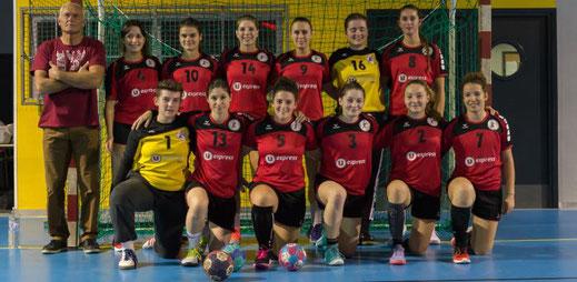 équipe féminine seniors de la JA Isle Handball