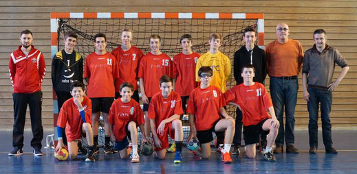 équipe masculine -17 ans de la JA Isle Handball