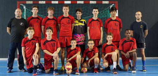 Equipe masculine des moins de quinze ans-JA Isle Handball
