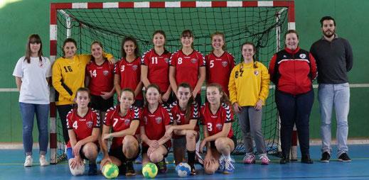 Equipe féminine des moins de quinze ans