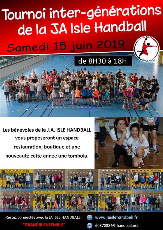 Affiche du tournoi intergénérations 2019