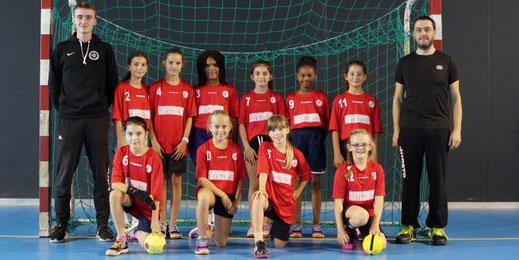 Equipe féminine des moins de treize ans de la JA isle handball