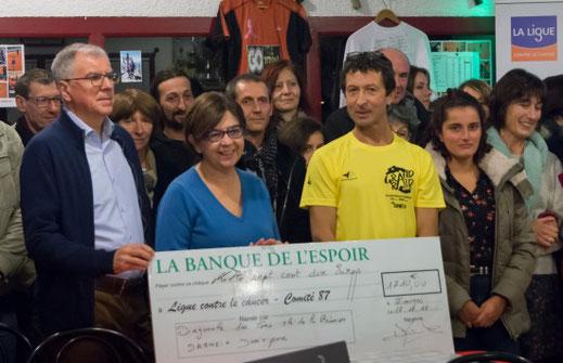 Dominique Darneix remise du chèque