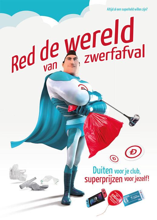 """Poster """"Red de wereld van zwerfafval"""""""