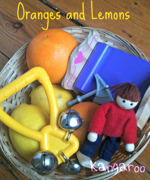 Oranges and Lemons basket props