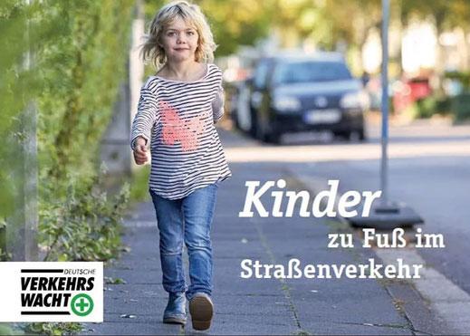 Bild Broschüre Kinder zu Fuß im Straßenverkehr - Quelle: Deutsche Verkehrswacht
