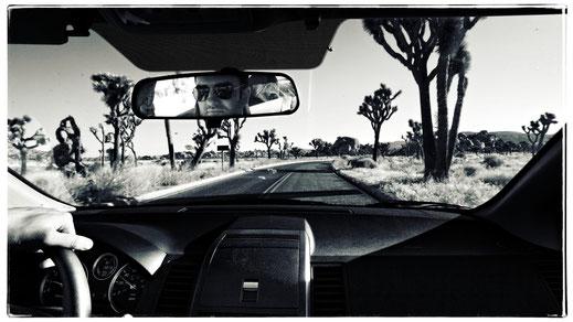 Anfahrt zum Cap Rock im Joshua Tree Nationalpark (Foto: Christian Düringer)