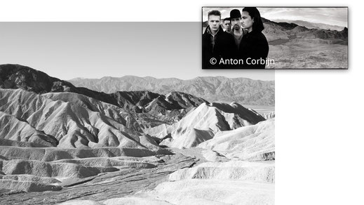 Am Zabriskie Point im Death Valley entstand das spätere Coverfoto von THE JOSHUA TREE